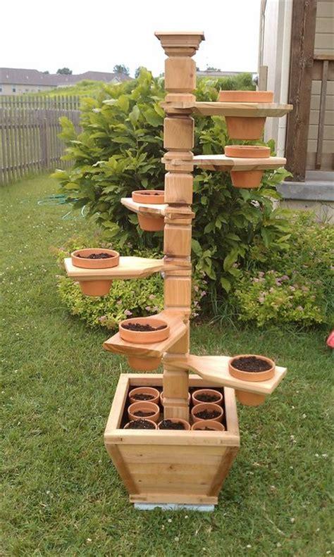 adjustable cedar plant stand  video splined miter