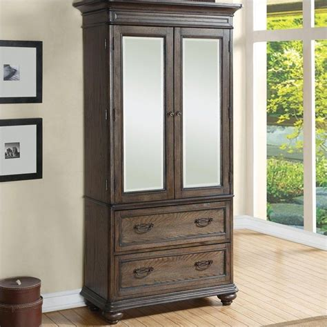 World Armoire by Riverside Furniture Belmeade Armoire In World Oak 15866