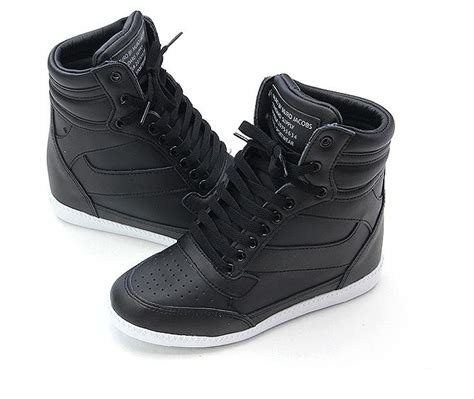 sneakers with high heels heel 7 5cm high top sneakers tennis shoes