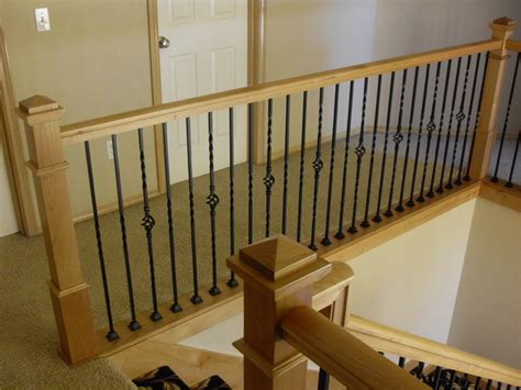 Stair Handrail Post alder handrail stair posts traditional staircase portland by portland stair company