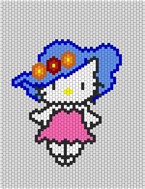 beaded hello pattern hello with flower hat bead pattern peyote bead