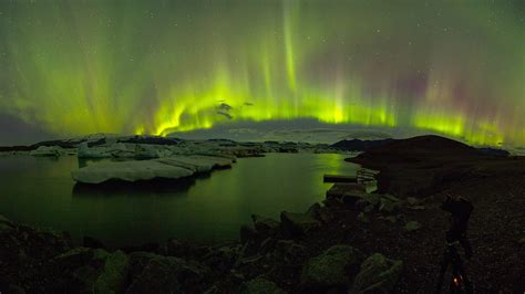 northern lights from space frost fire and northern lights in iceland