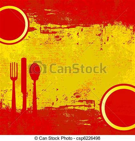spanish menu a vector menu template over a grunged flag