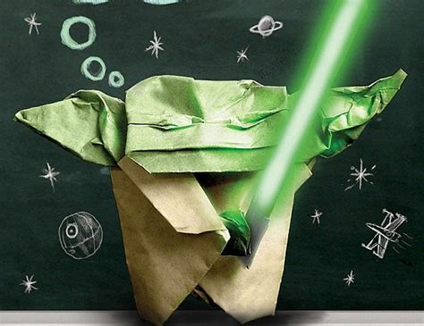 Origami Cover Yoda - origami wars books minecraft
