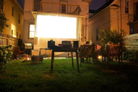 outdoor theaters on backyard