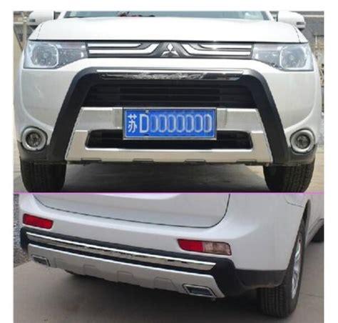 bumper removal 2014 outlander evolutionm mitsubishi abs chrome front rear bumper skid protector guard plate for mitsubishi outlander 2013 2014 in