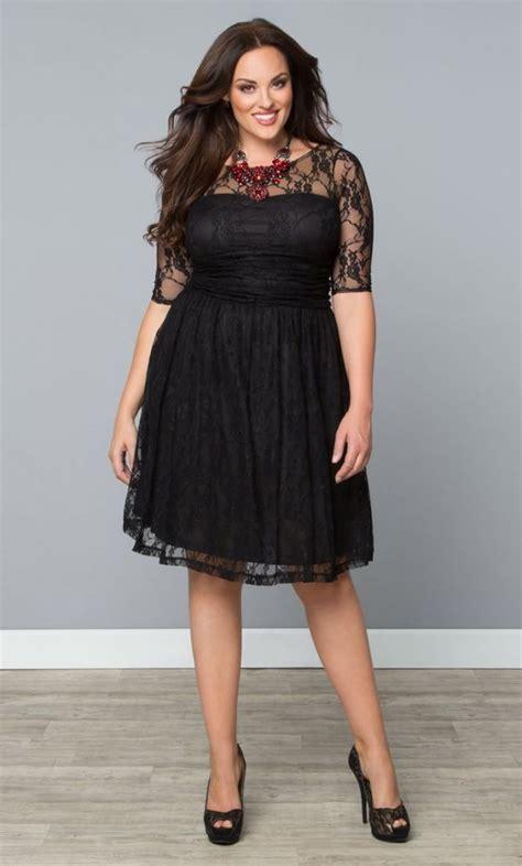cocktail jurken plus size kiyonna plus size luna lace dress size 3x black cocktail