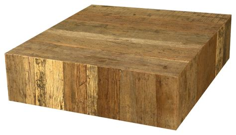 Rustic Railroad Ties Wood Square Unique Coffee Table | rustic railroad ties wood square unique coffee table