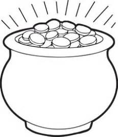 Free Printable Coloring Page For St Patricks Day Of A Big Pot  sketch template