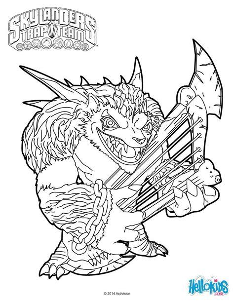 skylanders coloring pages games wolfgang coloring page from skylanders trap team video