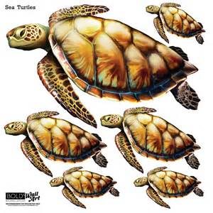 Turtle Wall Stickers bold wall art sea turtle wall stickers