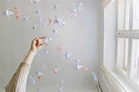Diy Ceiling Decor by Diy Renters Friendly Origami Ceiling Decoration