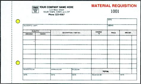 construction material request form template ans business forms requisition materials form