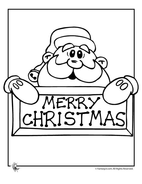merry christmas color pages coloring home