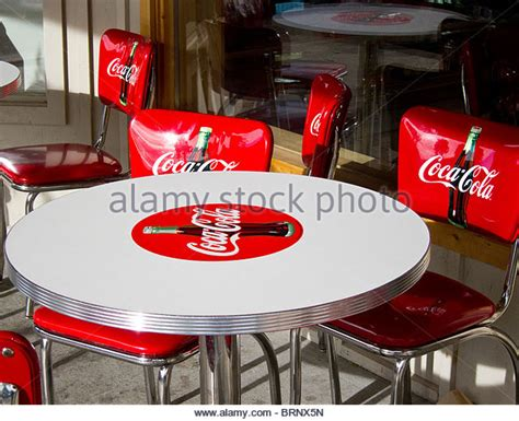 coca cola table stock photos coca cola table stock