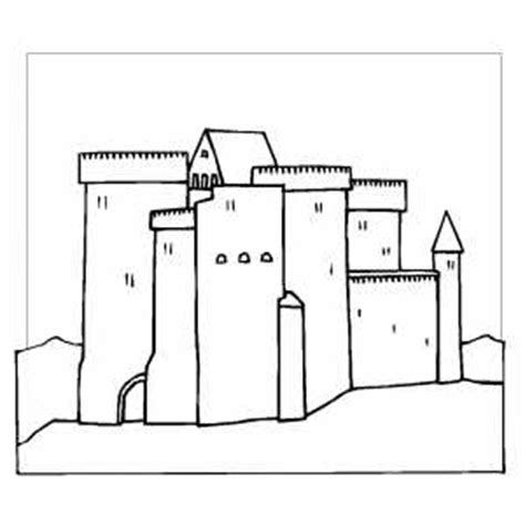 castle wall coloring page castle with square walls coloring sheet