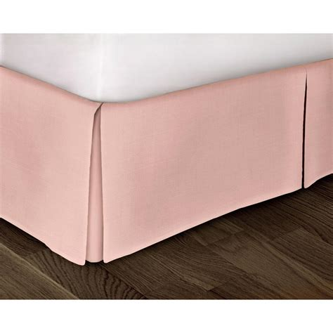 patterned bed skirts rizzy home pink solid pattern queen bed skirt sktbt1392pi006080 the home depot
