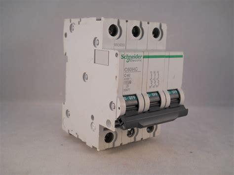 Mcb Schneider 40 A 1 Pas schneider mcb 40 pole 3 phase type c 40a c60hc340 merlin gerin 25677 willrose