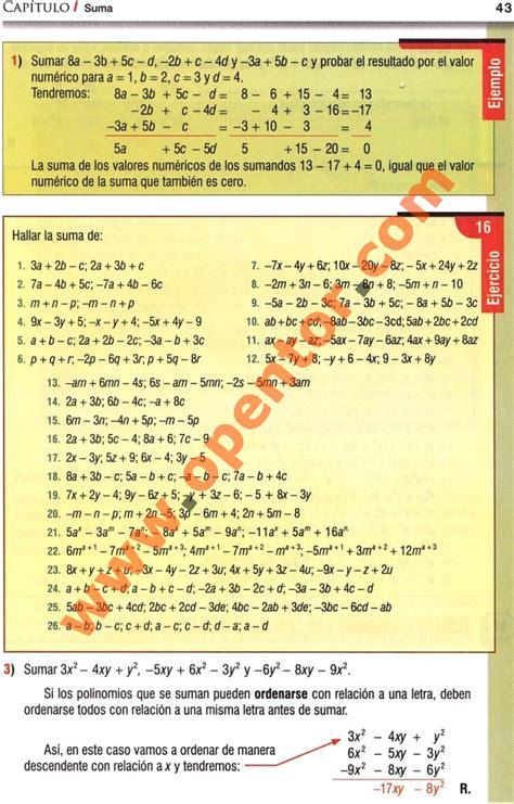 libro de algebra pin algebra de baldor ejercicios resueltos image search