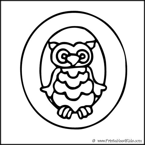 coloring pages for the letter o free words that start with o coloring pages