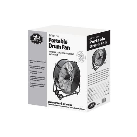 big air 24 drum fan with tilting feature prem i air 24 quot portable drum fan