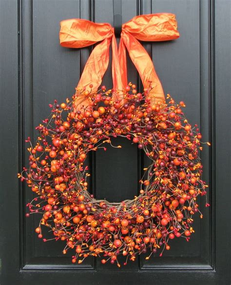 fall wreath harvested berries autumn decorations