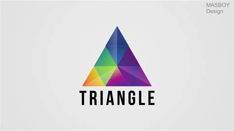 triangle pattern logo how to make professional triangle logo in coreldraw youtube