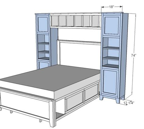 ana white murphy bed ana white build a hailey towers for the storage bed