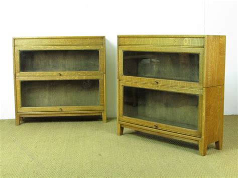 Heals Bookcase Pair Of Heal S Oak Glazed Sectional Bookcases Antiques Atlas