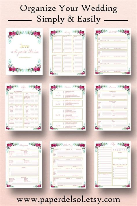 wedding planner free printable wedding planner book driverlayer search engine
