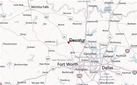 decatur texas map decatur texas location guide