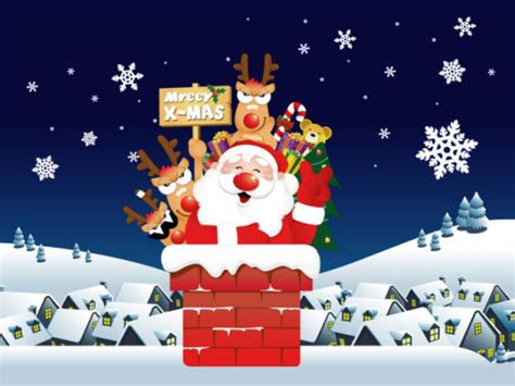 download christmas desktop theme walpaper free santa theme for windows 7