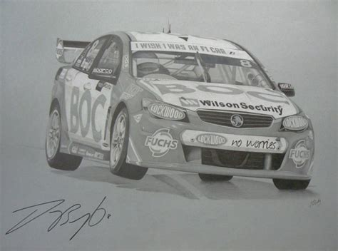 V8 Supercar Pencil Drawings   Speedcafe Classifieds