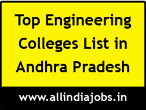 Top Mba Colleges In Andhra Pradesh by Top Engineering Colleges In Andhra Pradesh Freshers