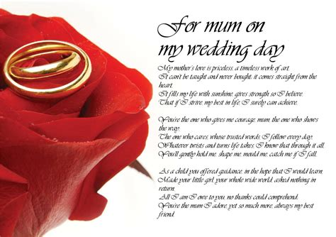 Personalised Poem Poetry for Bride Daughter from Mum on