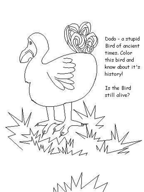 coloring pages of dodo bird dodo colouring pages page 2