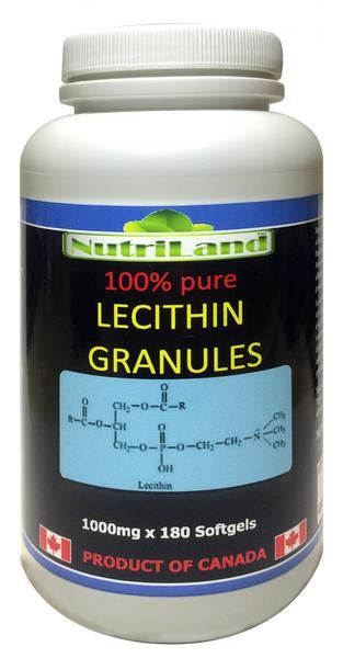 Lecithin Liver Detox by High Potency Lecithin 180 Softgels Nutriland Health