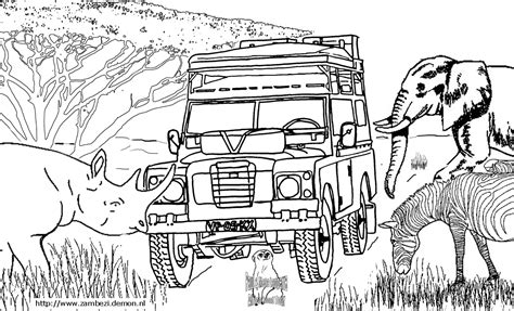 african landscape coloring page free coloring pages