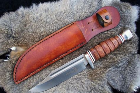 Handmade Knife Sheaths - custom leather knife sheath 12 overall 7 1 2 fixed