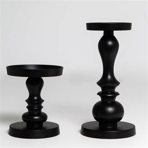 Black Candlestick Holders Black And White Candle Holders Koncept Event Design