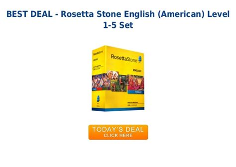 rosetta stone german level 1 unbeatable price rosetta stone english american level 1 5 set