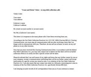 Cease And Desist Collection Letter Template by Cease And Desist Letter Template 8 Free Word Pdf