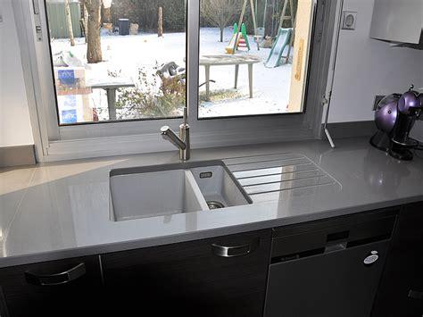 plan de travail cuisine composite granits d 233 co plan de travail en quartz unistone grigio