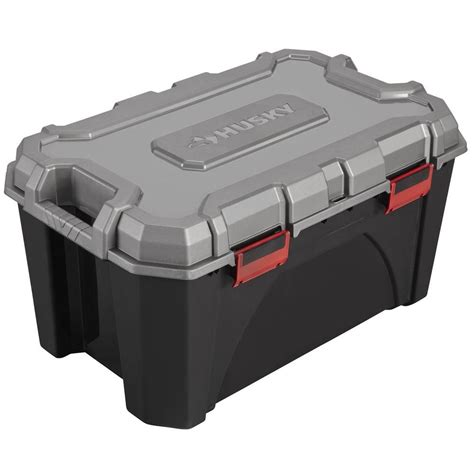 husky 20 gal storage tote 17200553 the home depot