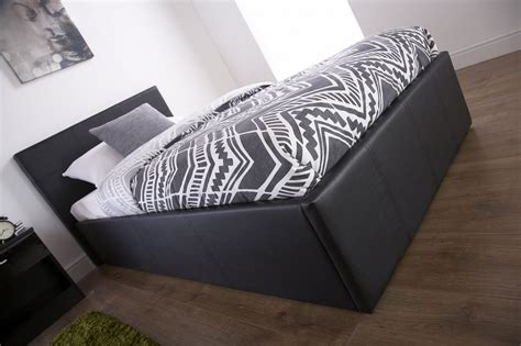 Three Quarter Ottoman Storage Bed End Lift Ottoman Storage Black Three Quarter 3 4 Bed Frame