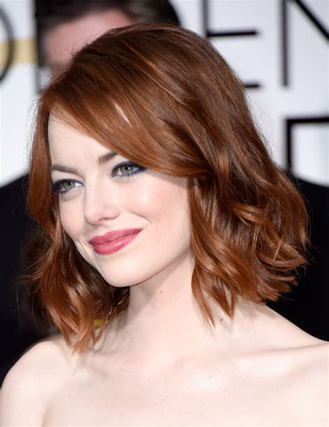 emma stone hairstyle emma stone short wavy cut short hairstyles lookbook