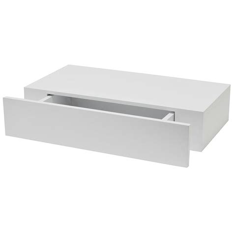 lade sospese moderne wallscapes shelf with drawer 19 in x 9 875 in floating