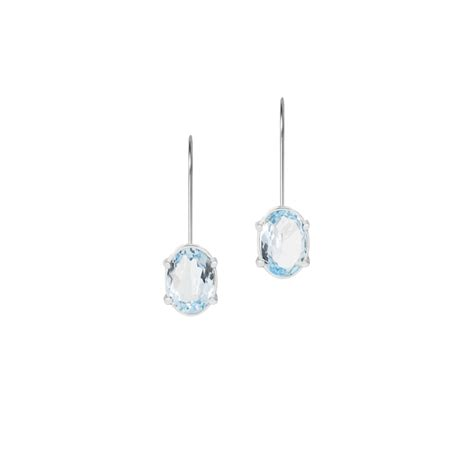 light blue topaz earrings light blue topaz earrings in 950 silver sarah kosta