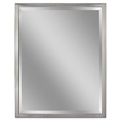 30 by 40 inch mirrors buy metal 30 inch x 40 inch rectangular mirror in brushed