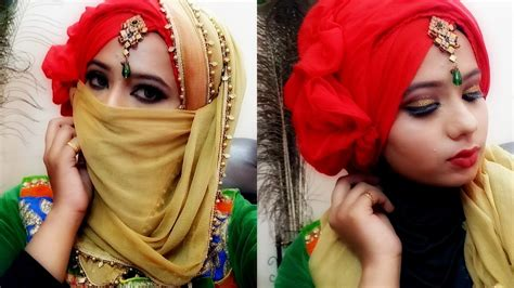 niqab tutorial with scarf hijab niqab tutorial easy to wear makeup wedding muslim